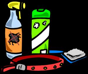 A cartoon of grooming supplies