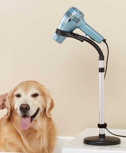 Blow dryer on a stand